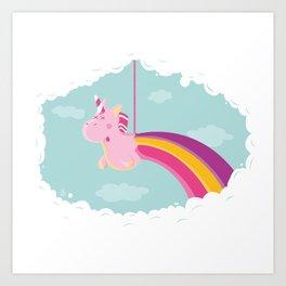 Licorne Piñata Art Print