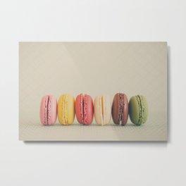 a macaron rainbow ... Metal Print