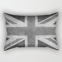 Union Jack Vintage 3:5 Version in grayscale Rectangular Pillow