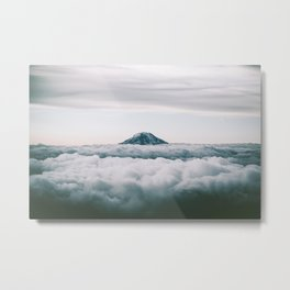 Adams Above Clouds Metal Print
