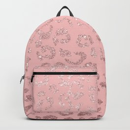 Modern faux rose gold glitter leopard ombre pink pattern Backpack