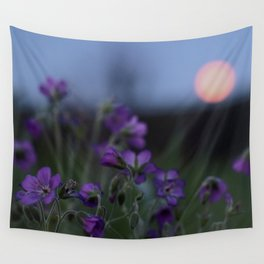 Moon flowers Wall Tapestry