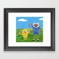 Finn And Jake! Framed Art Print