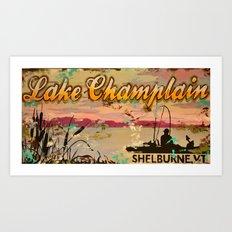 Lake Champlain, Shelburne Vermont Art Print