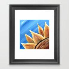 Fall Sunflower Framed Art Print