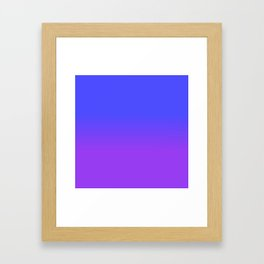 Neon Purple and Bright Neon Blue Ombré Shade Color Fade Framed Art Print