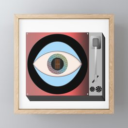 Psychedelic Record Player Framed Mini Art Print