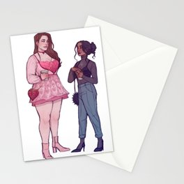 Modern Nina and Inej Stationery Cards