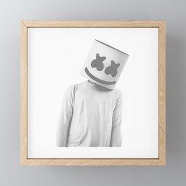 MARSHMELLO Gray Framed Mini Art Print