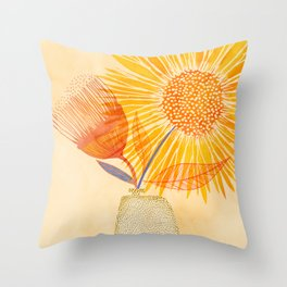Tuesday Afternoon Sunflowers Throw Pillow