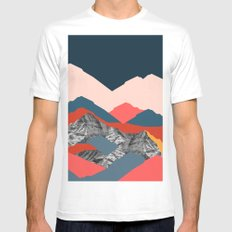 Graphic Mountains X White Mens Fitted Tee MEDIUM