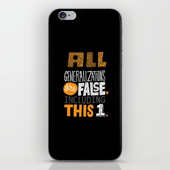 All Generalizations iPhone & iPod Skin