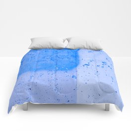 Stonewall in Pale Cerulean and Cyan Comforters
