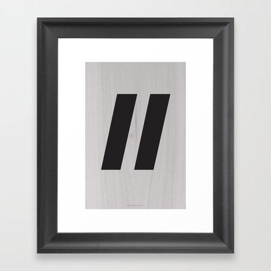 Slash Black Framed Art Print