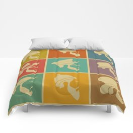 colorful Icons man in a headdress hat Comforters