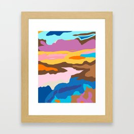 Shape and Layers no.19 - Abstract Modern Landscape Framed Art Print