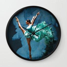 -O1- Blue Ballet Dancer Deep Feelings. Wall Clock