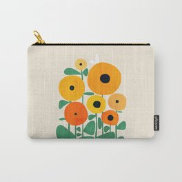 Sunflower and Bee Carry-All Pouch