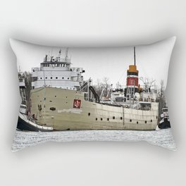 Freighter in Tow Rectangular Pillow
