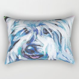 fun COTON de TULEAR bright colorful Pop Art painting by Lea Rectangular Pillow