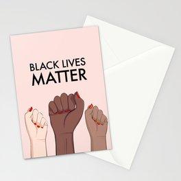 Stop racism, black lives matter Stationery Cards