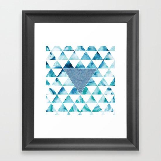 Triangle Sky Framed Art Print