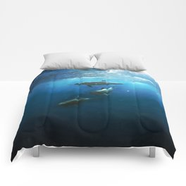Swimming with Dolphins Comforters