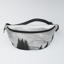 Mount Rainier Black and White Fanny Pack
