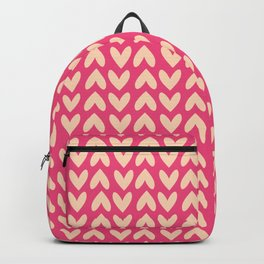 Pink Hearts Repeated Pattern 083#001 Backpack