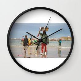 Back fishing day Wall Clock