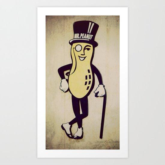 Mr. Peanut Art Print