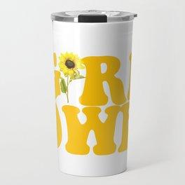 GIRL POWER SUNFLOWER Travel Mug