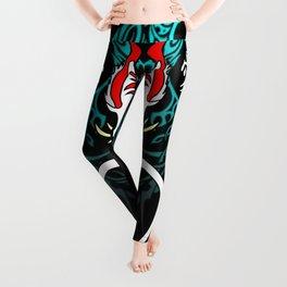Keigstu the Dragon (With Blue Wings & Kanji Symbols) Leggings