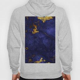 Gold Blue Indigo Malachite Marble Hoody
