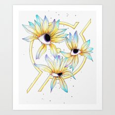 Ruptured Sun Art Print