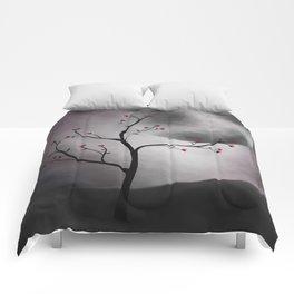Midnight Peach Comforters