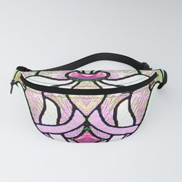 Delicate Stained-glass in Victorian Pink Detail Fanny Pack