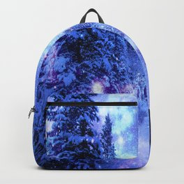 Mystical Snow Winter Forest Backpack
