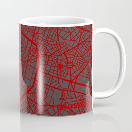 Brussels map Coffee Mug