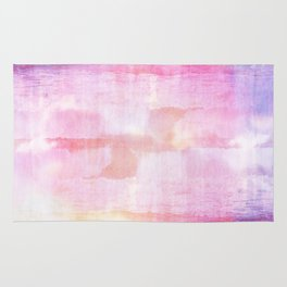 Abstract ocean view in pink and blue Rug