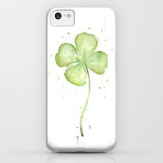 Clover Four Leaf Lucky Charm Green Clovers Slim Case iPhone 5c