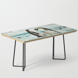 Emperor Penguin Family Coffee Table