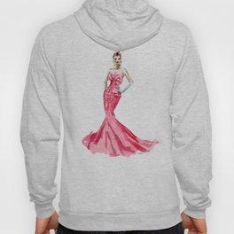 Sabrina / Hepburn Fuschia Pink Red   Fashion Gown Dress Hoody