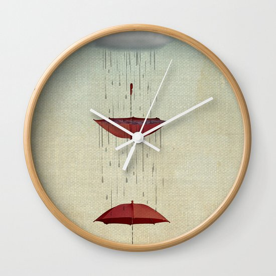 the umbrella runneth over and over Wall Clock