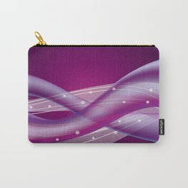 Whimsical Purple Ombre Background and Soft Gradient Wavy Lines with Sparkles Carry-All Pouch