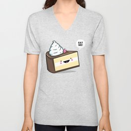 Eat Me! - Wonderland Kawaii Cake Unisex V-Neck