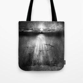 dolphins, civilization. Tote Bag