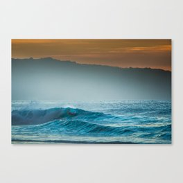 Surf on north shore Hawaii Canvas Print