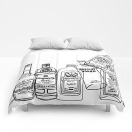 Alcohol Bottles (White) Comforters