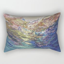 Emerging from a deep dive Rectangular Pillow